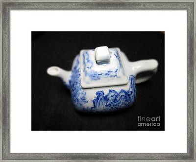 Blue And White Porcelain Framed Print