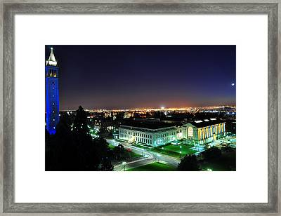 Blue Campanile And Doe Library Framed Print