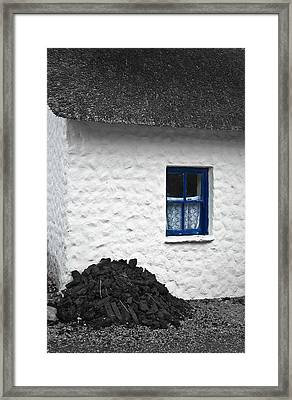 Framed Print featuring the photograph Blue Cottage Window by Jane McIlroy