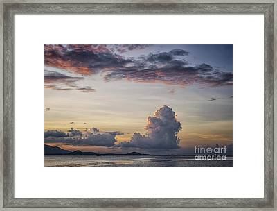 Blue Evening Framed Print by Michelle Meenawong