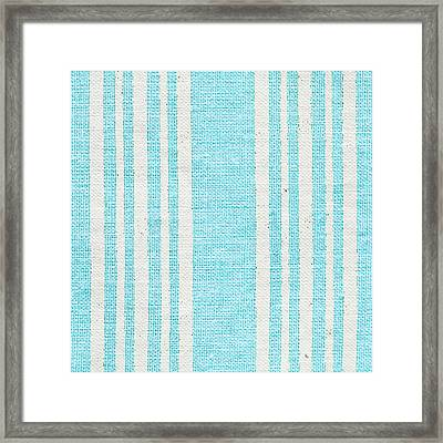Blue Fabric Framed Print