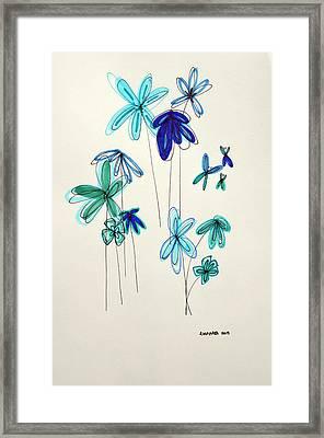Blue Flowers Framed Print by Patricia Awapara