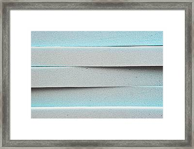 Blue Foam Framed Print by Tom Gowanlock