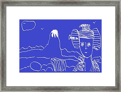 Framed Print featuring the painting Blue Geisha by Don Koester