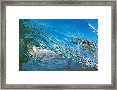 Framed Print featuring the photograph Blue Glass by Paul Topp