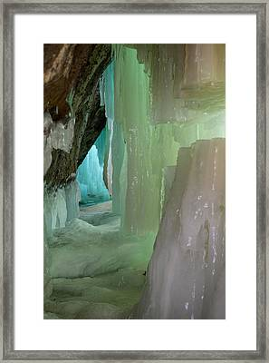 Blue Green Ice Framed Print