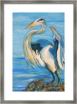 Blue Heron II Framed Print