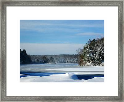 Blue Lake Framed Print