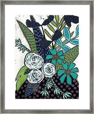 Blue Framed Print by Lisa Noneman