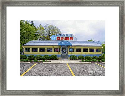 Framed Print featuring the photograph Blue Moon Diner by JRP Photography