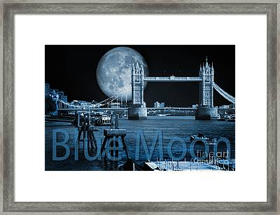 Blue Moon Framed Print by Donald Davis
