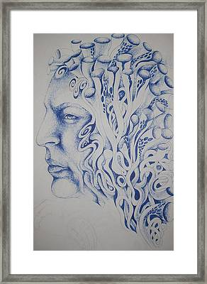 Blue Framed Print by Moshfegh Rakhsha