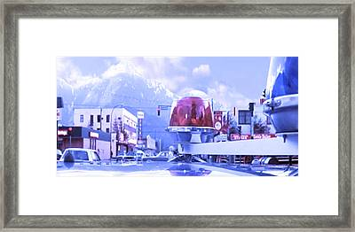 Blue Mountain Haven On Earth Beautiful Snow Season Cool Kool   Pink White Rush Party Engage Chrismas Framed Print