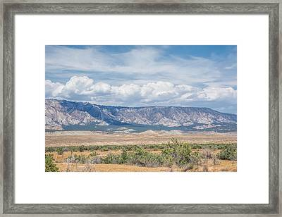 Framed Print featuring the photograph Blue Mountain Range by Jeanne May