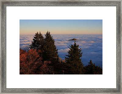 Blue Ridge Parkway Sea Of Clouds Framed Print