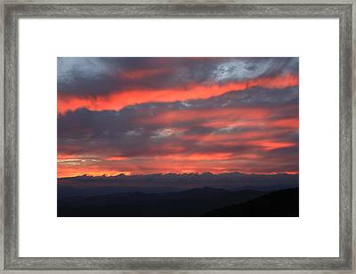 Framed Print featuring the photograph Blue Ridge Parkway Sunset-north Carolina by Mountains to the Sea Photo