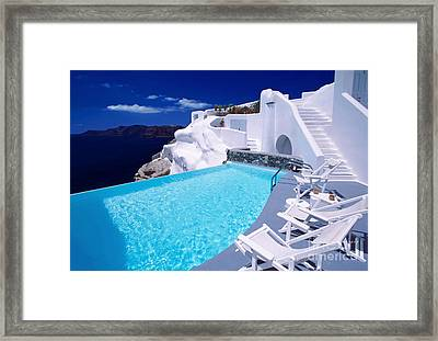 Blue Soda Framed Print by Aiolos Greek Collections