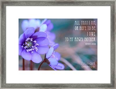 Blue Springtime Flowers Mother's Day Framed Print