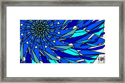 Blue Sun Framed Print
