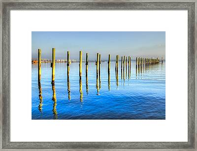 Blue Tide Framed Print by Debra and Dave Vanderlaan