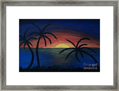 Framed Print featuring the painting Blue Tides by Arlene Sundby
