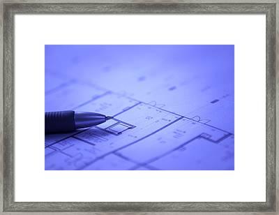 Blueprints Framed Print
