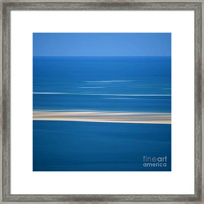 Blurred Sea Framed Print by Bernard Jaubert