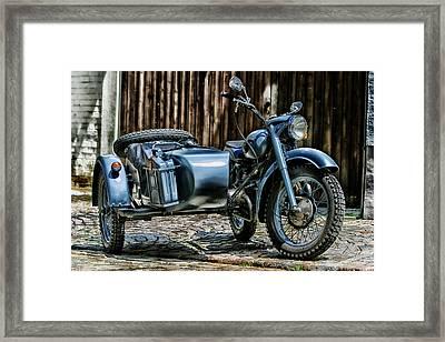 Bmw 500 Sidecar Framed Print