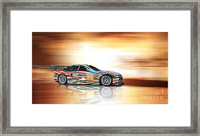 Bmw M3 Art Car Framed Print