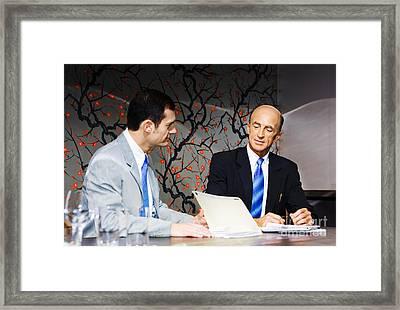 Boardroom Business Meeting Framed Print