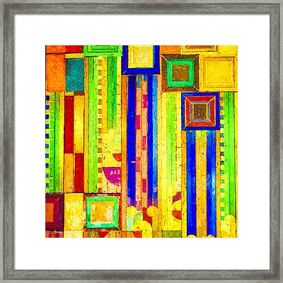Boards And Boxes Framed Print