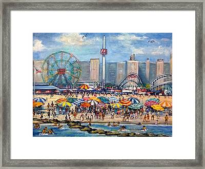 Boardwalk New Jersey Framed Print