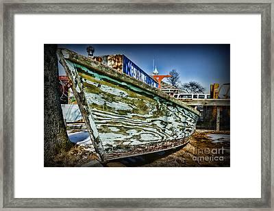 Boat Forever Dry Docked Framed Print