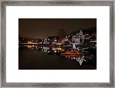 Boathouse Row Lights Framed Print by Bill Cannon
