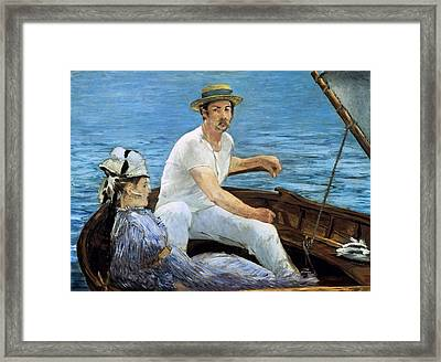 Boating Framed Print by Edouard Manet