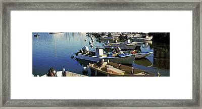 Boats At A Harbor, Provincetown, Cape Framed Print by Panoramic Images