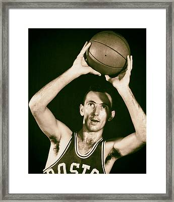 Bob Cousy Of The Boston Celtics 1950s Framed Print by Mountain Dreams