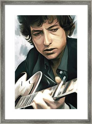 Bob Dylan Artwork Framed Print by Sheraz A