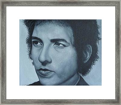 Bob Dylan Framed Print by David Dunne