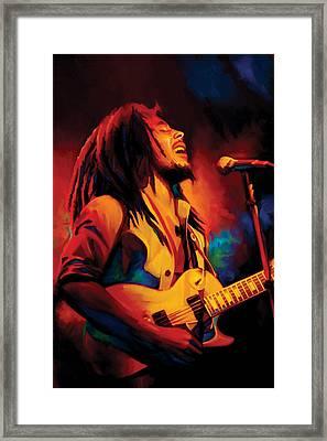 Bob Marley Artwork Framed Print by Sheraz A