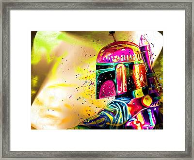 Boba Fett Star Wars Framed Print by Daniel Janda