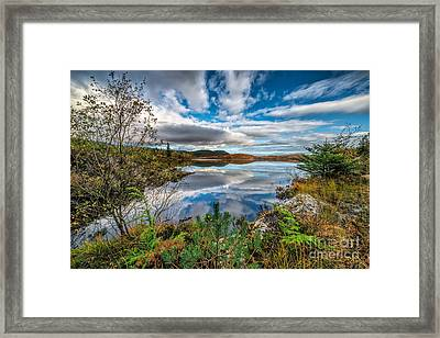 Bodgynydd Lake Framed Print by Adrian Evans