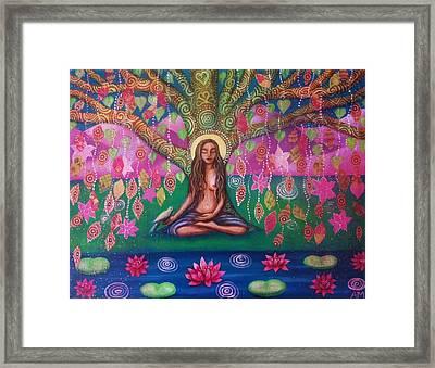 Bodhi Tree Framed Print by Alice Mason