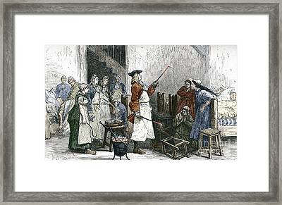 Boerhaaves Hysteria Treatment Framed Print by Sheila Terry