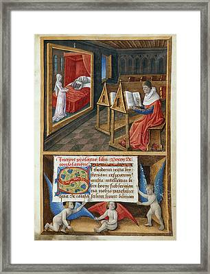 Boethius And Philosophy Framed Print by British Library