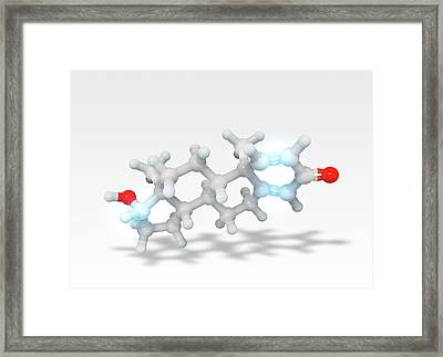 Boldenone Anabolic Steroid Molecule Framed Print by Ramon Andrade 3dciencia