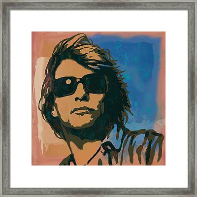 Bon Jovi Long Stylised Drawing Art Poster Framed Print by Kim Wang