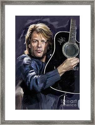 Bon Jovi Framed Print by Melanie D