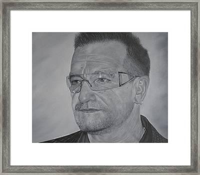 Bono Framed Print by David Dunne