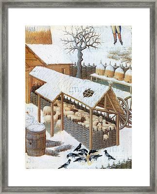 Book Of Hours: February Framed Print by Granger